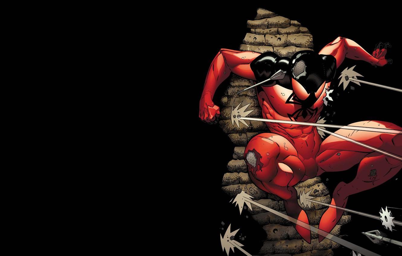 Photo wallpaper shooting, hunting, arrows, comic, shuriken, spider man, Marvel Comics, Clone, Scarlet spider, Cain