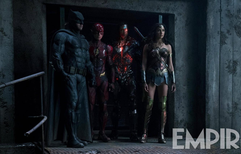 Photo wallpaper Wonder Woman, Batman, DC Comics, Flash, Gal Gadot, Justice League, Ben Affleck, Ezra Miller, Cycorg, …