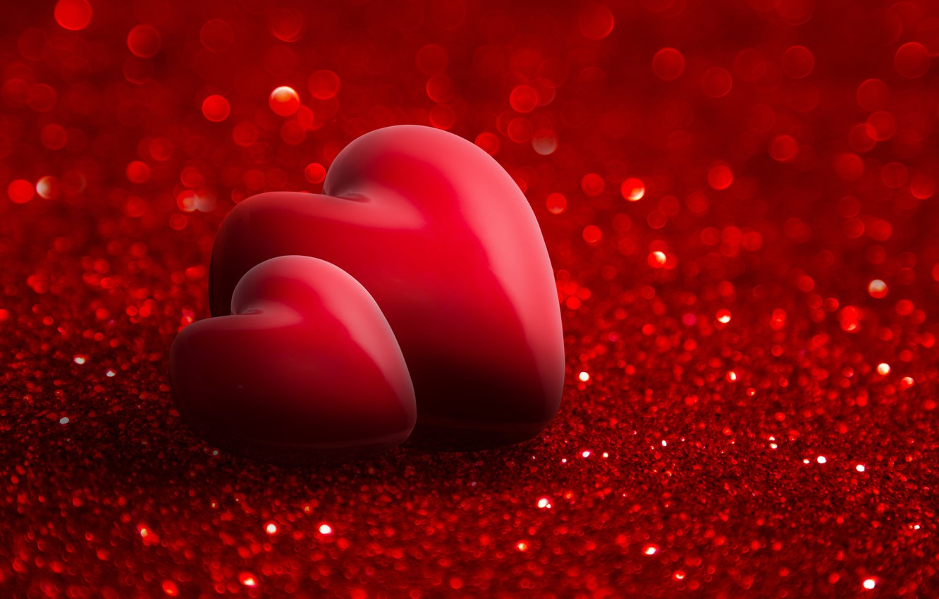 Wallpaper Red Love Romantic Hearts Valentine S Day