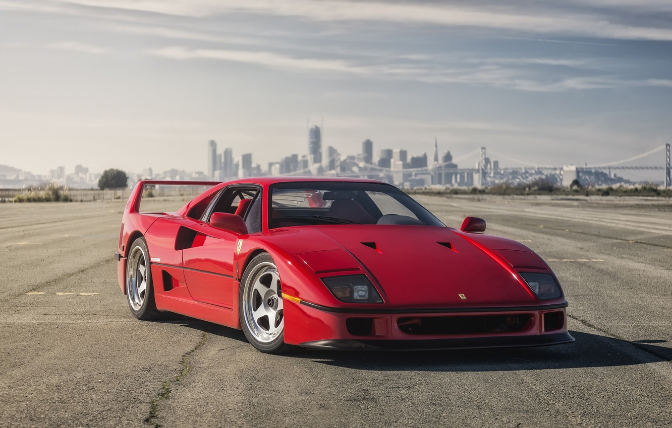 Photo wallpaper Ferrari, Red, F40