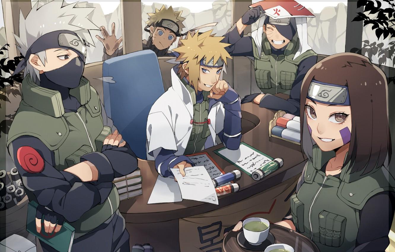 Photo wallpaper game, anime, ninja, Rin, Uchiha, manga, hokage, shinobi, Kakashi, Hatake, Naruto Shippuden, Tobi, Minato, hitaiate, …