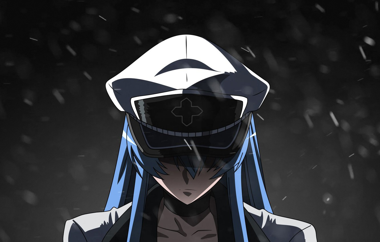 Wallpaper Snow Cold Akame Ga Kill Esdeath Cap In The Dark