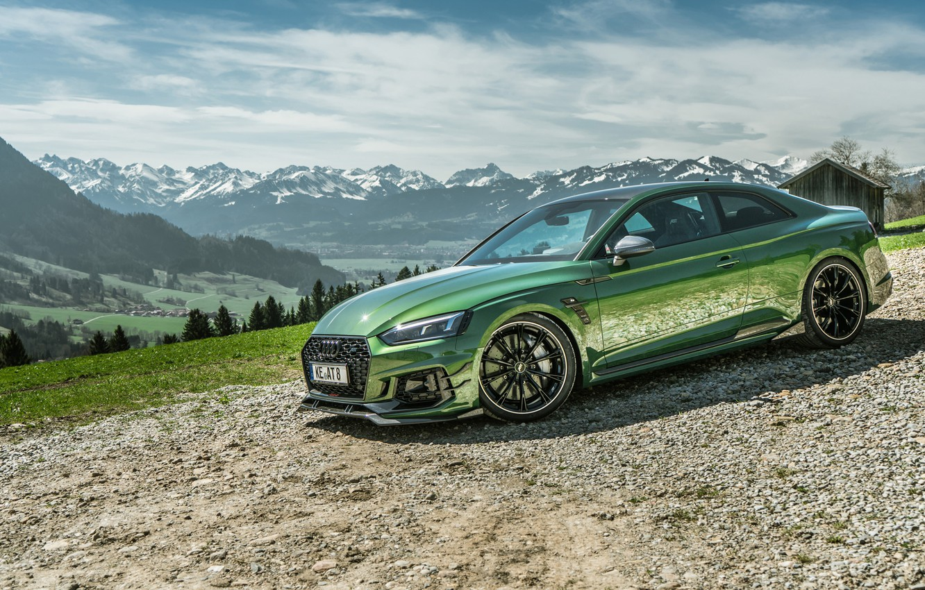 Photo wallpaper mountains, Audi, RS5, Coupe, 2018, ABBOT, RS5-R, RS 5