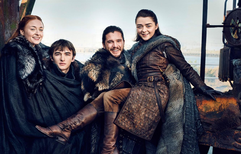 Photo wallpaper A Song of Ice and Fire, Game of Thrones, season 7, Jon Snow, Arya Stark, …