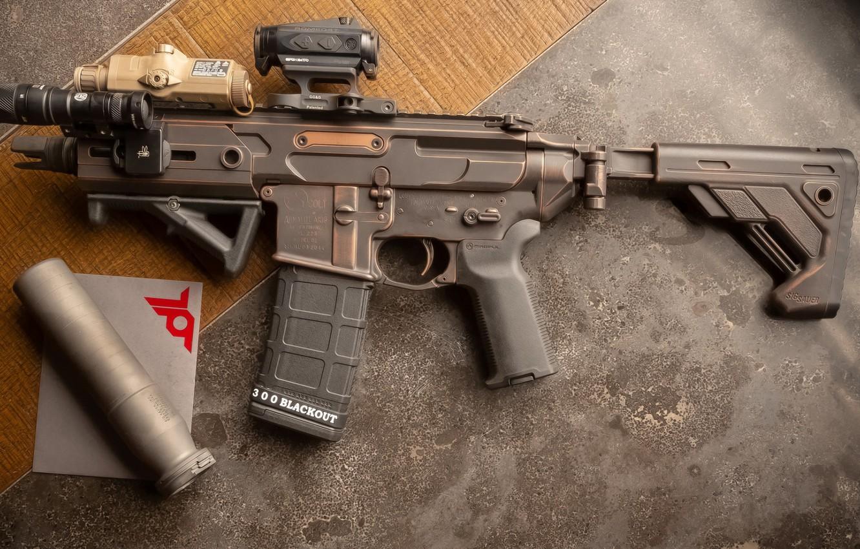 Photo wallpaper weapons, rifle, weapon, custom, ar-15, assault rifle, assault rifle, assault Rifle, AR-15