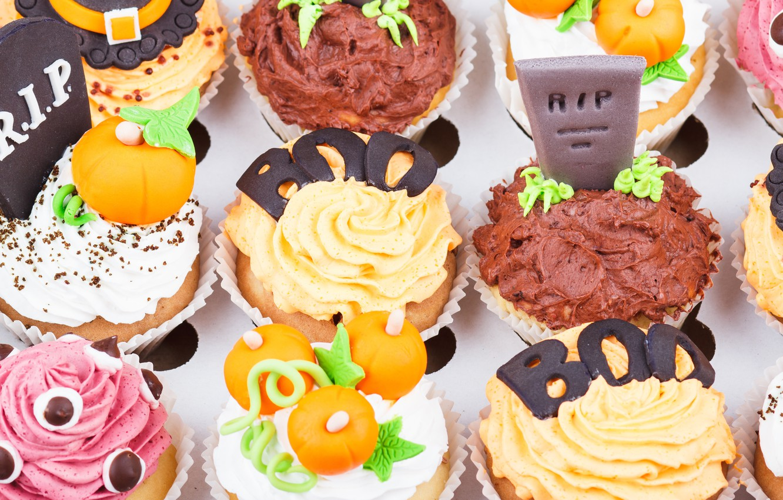 Photo wallpaper holiday, decoration, cream, heluin, cupcakes