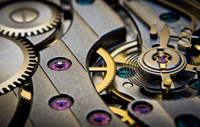 Photo wallpaper techno, watch, mechanism, gear