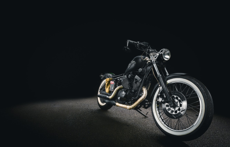 Photo wallpaper Motorcycle, Harley Davidson, The Dark Background