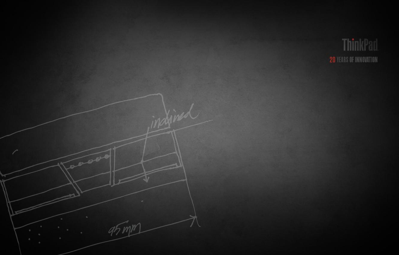 Photo wallpaper laptop, lenovo, thinkpad