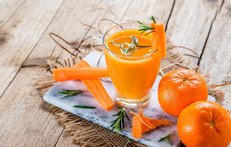 Photo wallpaper juice, drink, fresh, carrot-orange