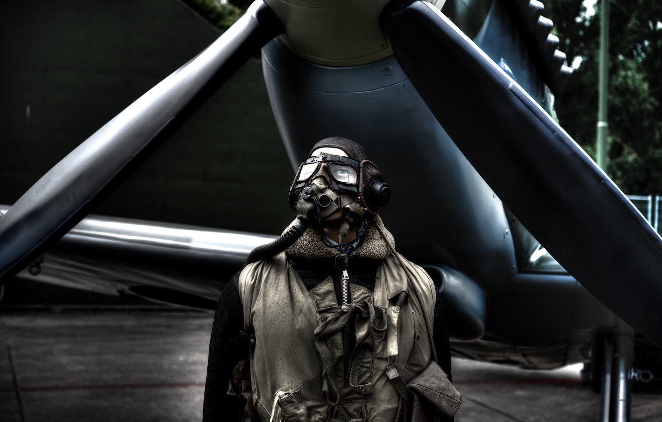 Photo wallpaper the plane, people, glasses, gloves, pilot, propeller, aircraft, man, pilot, gloves, goggles, headset, propeller