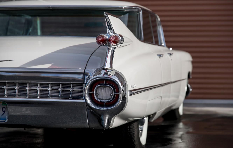 Photo wallpaper retro, Cadillac, classic, Sedan, 1959, deVille
