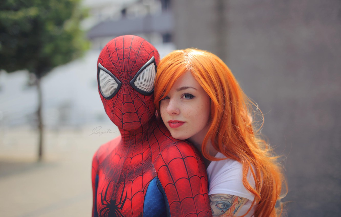 Wallpaper Cosplay Spider Man Peter Parker Mary Jane Watson By