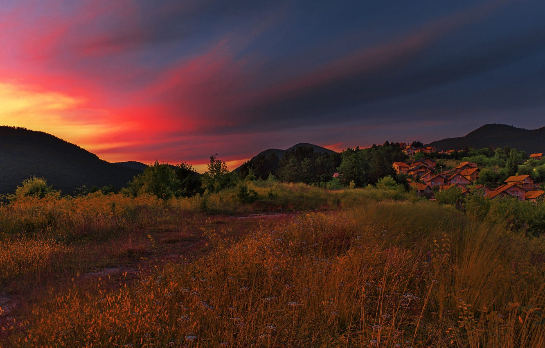 Photo wallpaper Landscape, View, Bosnia, Vogosca, Villae
