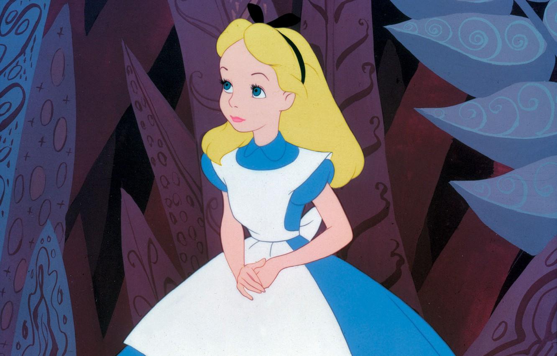 Wallpaper Cartoon Girl Alice In Wonderland Alice In Wonderland