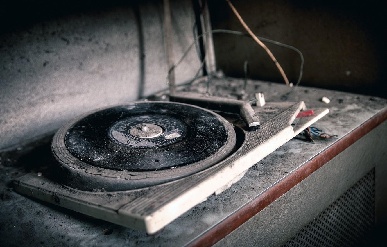 Photo wallpaper music, vinyl, record player