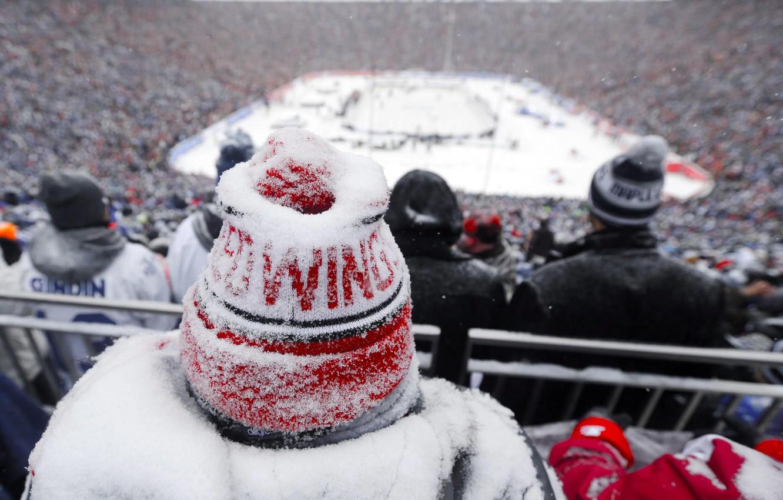 Wallpaper Winter Snow Hat Detroit Hockey Red Wings Hockey