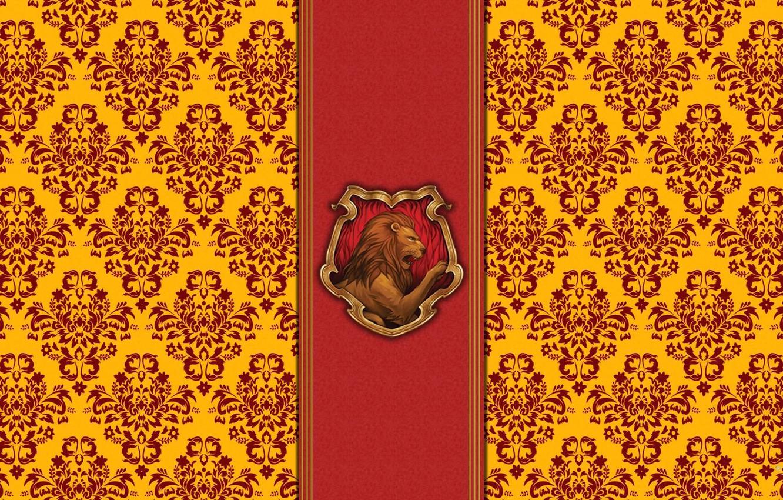 Wallpaper Red Leo Emblem Harry Potter Gold Harry Potter