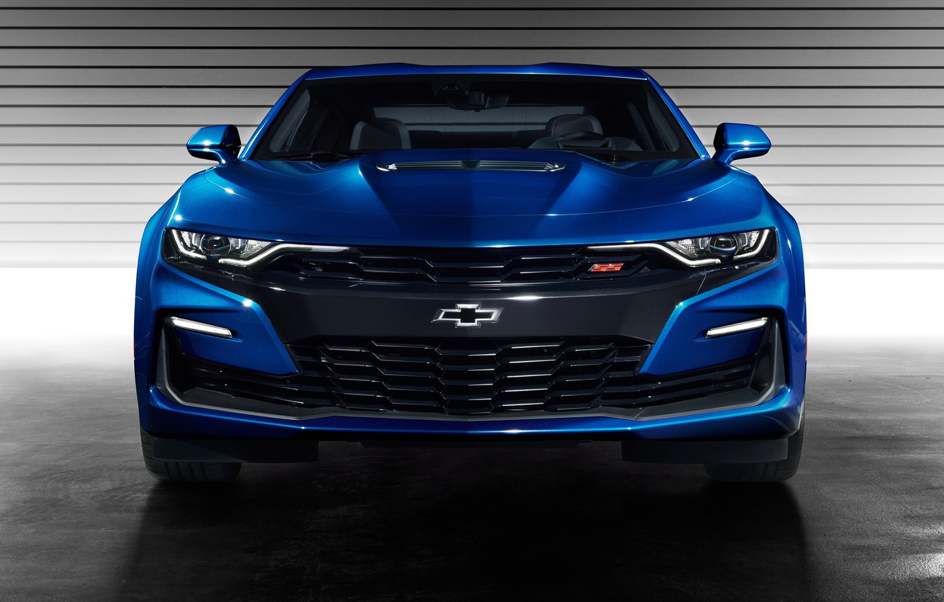 Photo wallpaper Chevrolet, Camaro SS, front view, 2019