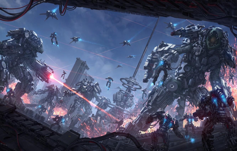 Sci Fi War Wallpaper Seobaeoseo