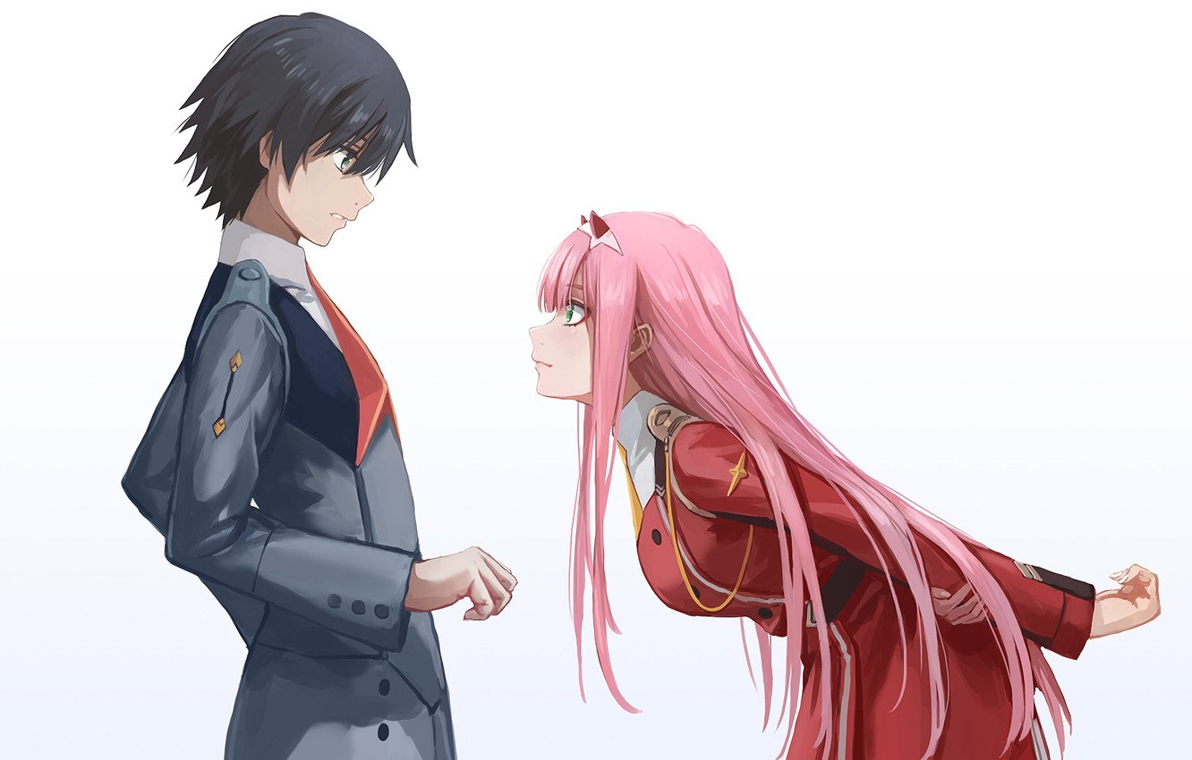 Photo wallpaper girl, anime, guy, Darling In The Frankxx, Cute in France