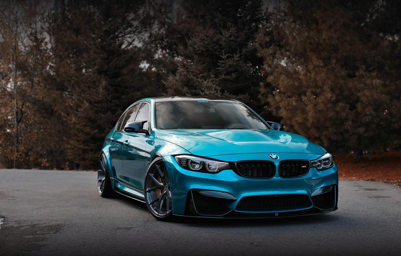 Photo wallpaper BMW, Blue, Autumn, F80, Sight