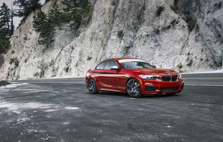 Photo wallpaper BMW, Red, F22, Melbourne, M235i