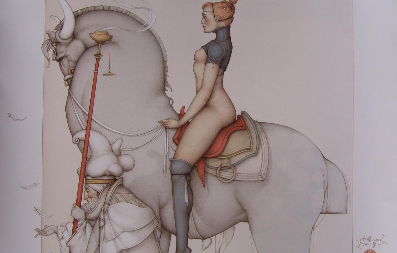 Photo wallpaper Magical realism, Jeanne_D_Arc, Michael Parkes