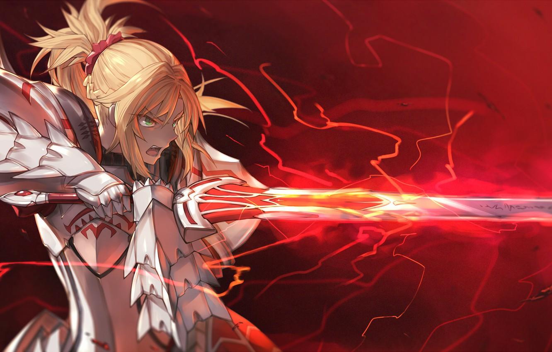 Photo wallpaper girl, sword, the saber, fate/grand order