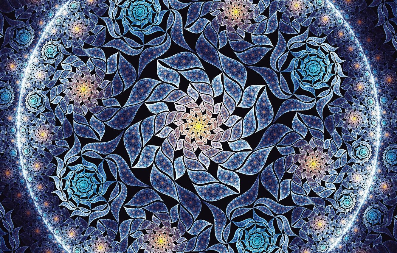 Photo wallpaper flowers, texture, art, fractal, Jan Jämsén, Fractal artworks 2017