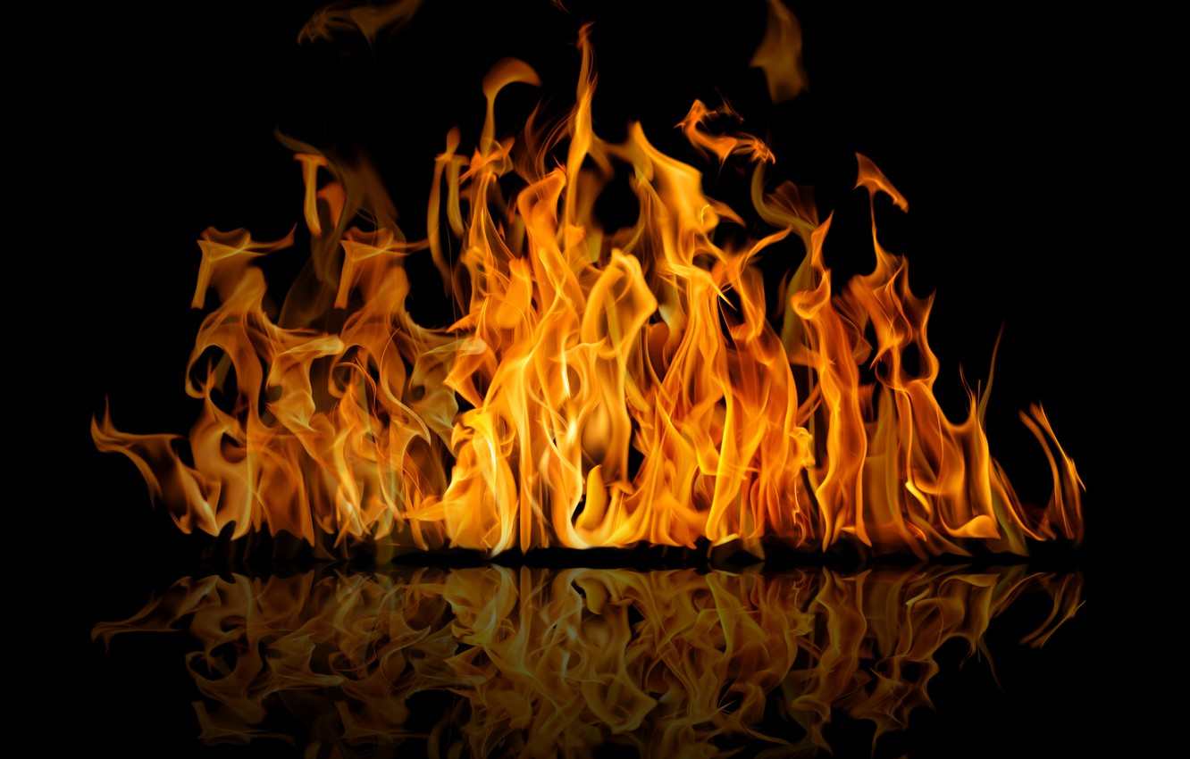 Wallpaper Reflection Background Fire Flame Black Fire Flame Reflection Images For Desktop Section Raznoe Download