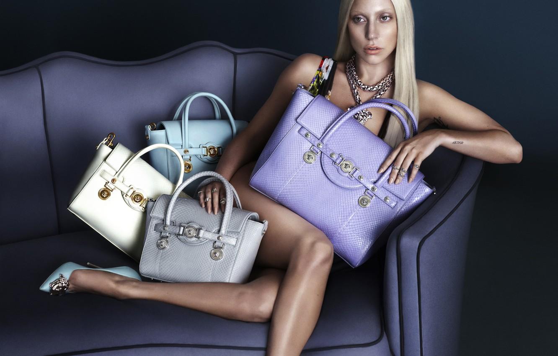 Photo wallpaper blonde, bags, Lady Gaga