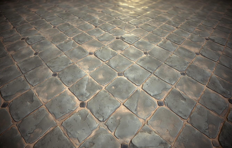 Photo wallpaper rendering, texture, art, Stephen Honegger, Stylized texture - Diamond paving study