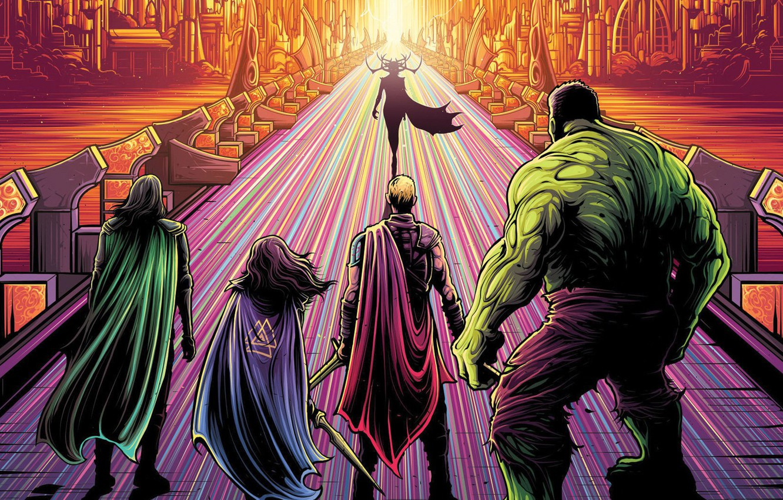 Wallpaper Hulk Marvel Thor Loki Asgard Valkiriya Hela Thor