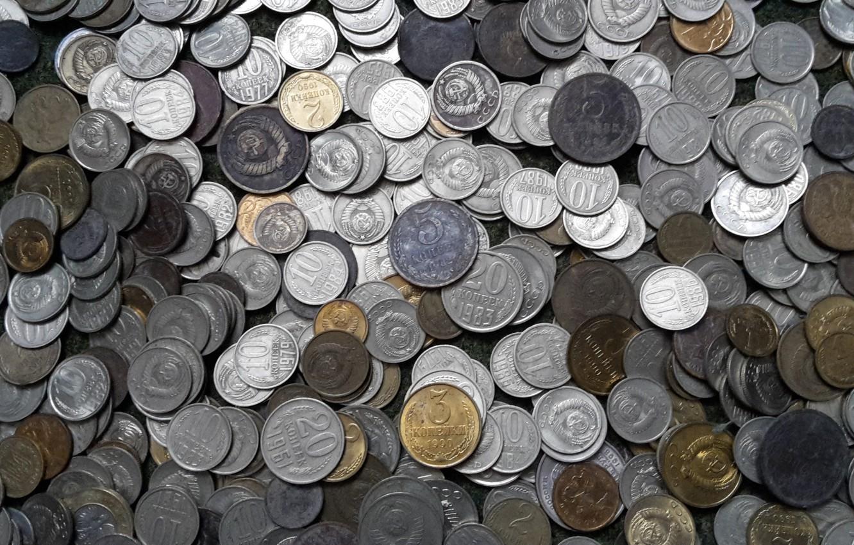 Photo wallpaper USSR, Penny, Soviet coins
