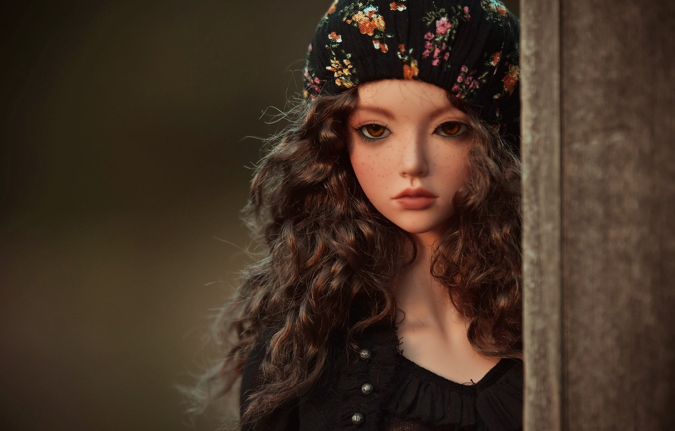 Photo wallpaper look, toy, doll