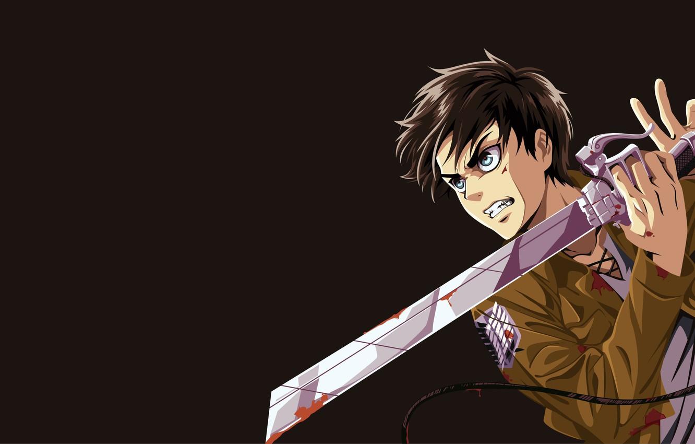Photo Wallpaper Sword Anime Survivor Ken Blade Giant Manga