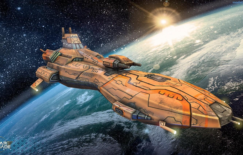 Photo wallpaper space, transport, ship, planet, some ship