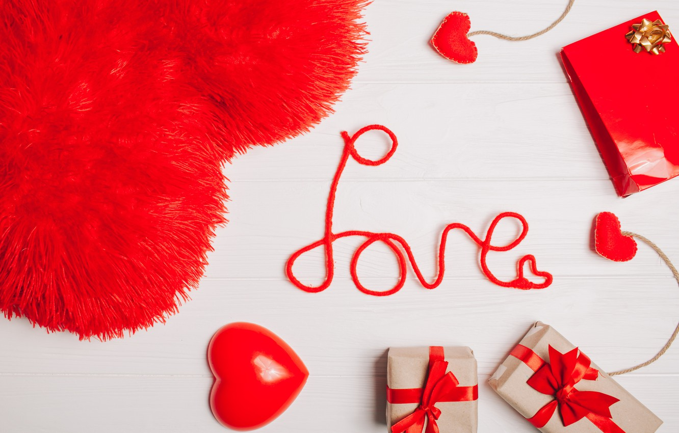Photo wallpaper love, gifts, Holiday, Valentine's day