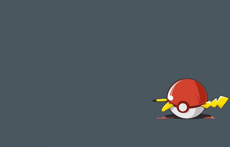 Photo wallpaper blood, tail, blood, ears, tail, Pikachu, Pikachu, ears, Pokebol, Poké Ball, clamped