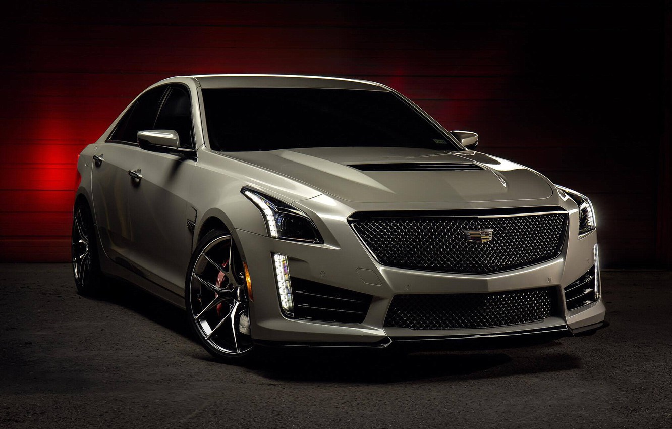 Photo wallpaper Cadillac, One, CTS-V, Forged, Wheels, Piece, Forgeline, Monoblock, VX1
