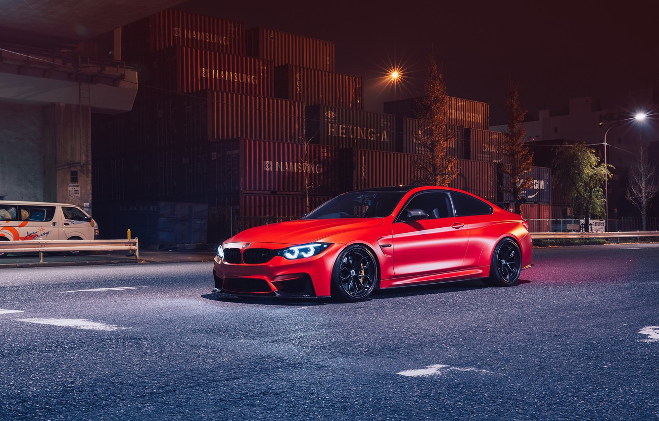 Photo wallpaper BMW, Light, Night, RED, F82, Sight, LED