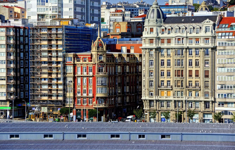 Photo wallpaper Building, Spain, Spain, La Coruna, La Coruna