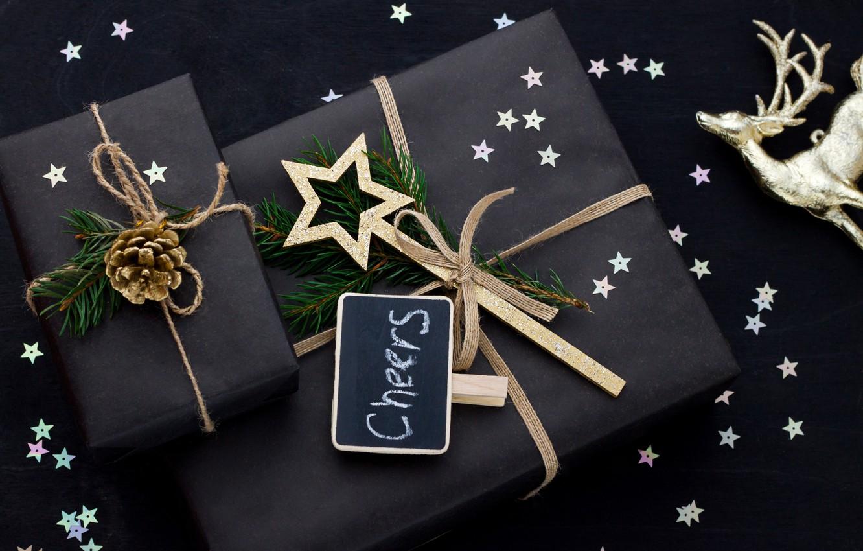 Photo wallpaper New Year, Christmas, merry christmas, decoration, gifts, xmas, holiday celebration
