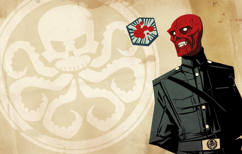 Photo wallpaper Marvel, comic, comics, Red Skull, Hydra, Red Skull