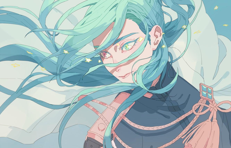 Photo wallpaper look, hair, art, guy, Touken Ranbu, Nikkor Aoe