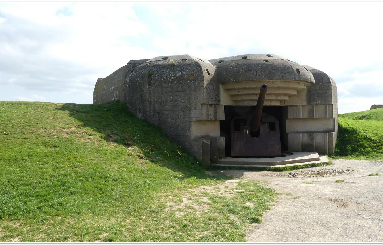 Photo wallpaper gun, normandy, ww2, artillery