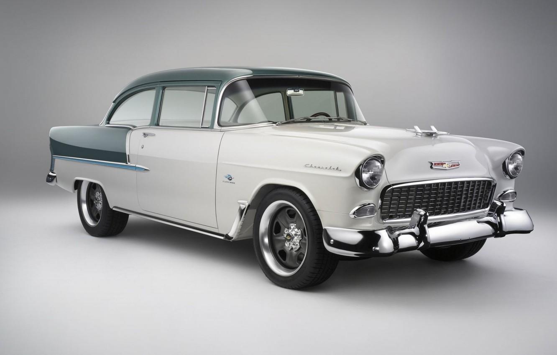 Photo wallpaper Chevrolet, Bel Air, retro, coupe, 1955