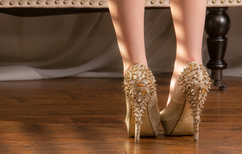 Photo wallpaper girl, style, spikes, heels, legs
