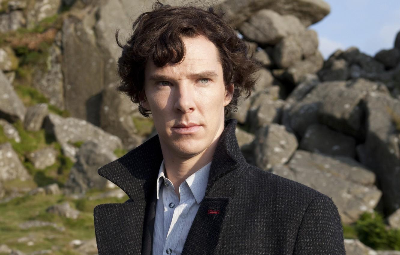 Photo wallpaper photo, male, coat, Benedict Cumberbatch, Benedict Cumberbatch, Sherlock